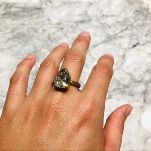 Teardrop Diamond Ring